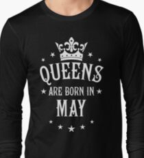 Queens are born in May Happy Birthday Queen T-Shirt