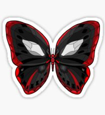 Butterfly - Crazy Killer Black and Red Wings Sticker