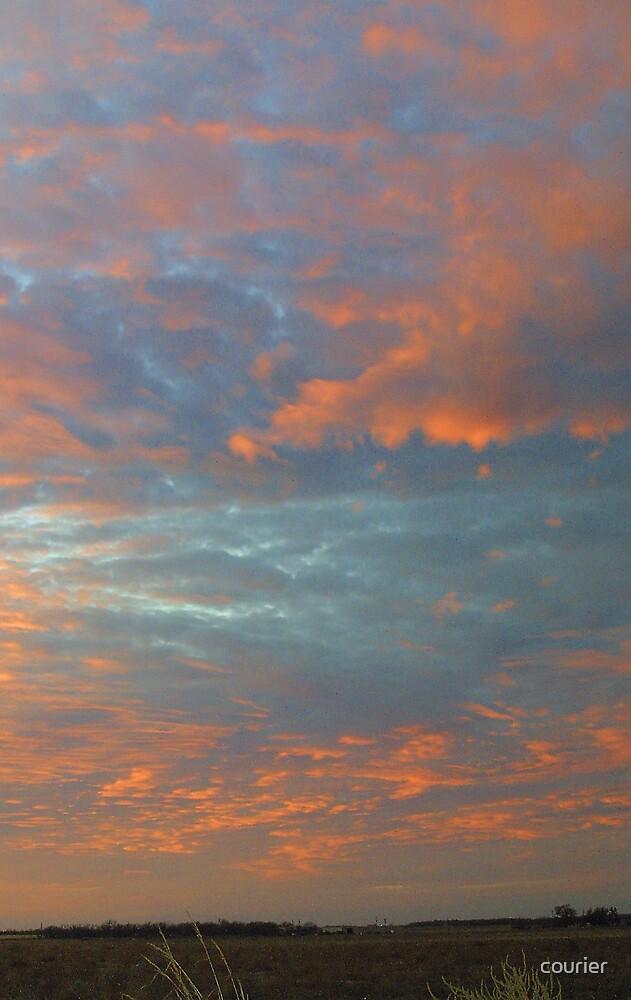 Sundown on the Prairie by courier