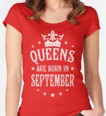 Queens are born in September Happy Birthday Queen Women's Fitted Scoop T-Shirt