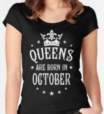 Queens are born in October Happy Birthday Queen Women's Fitted Scoop T-Shirt