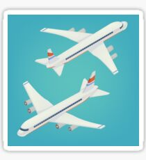 Passenger Airplane. Passenger Airliner. Airplane freight. Isometric Concept. Transportation Mode. Aircraft Vehicle Sticker