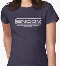 TRON - ENCOM White Womens Fitted T-Shirt