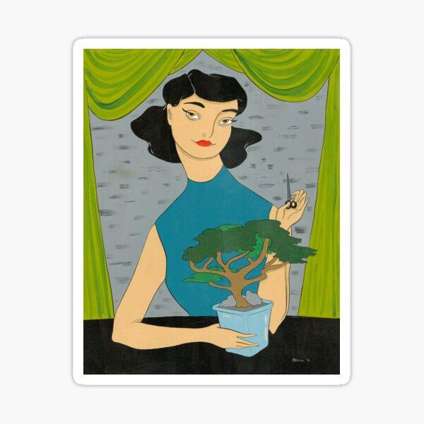 Girl with Bonsai Sticker