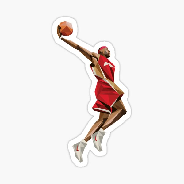 lebron james artwork sticker Sticker