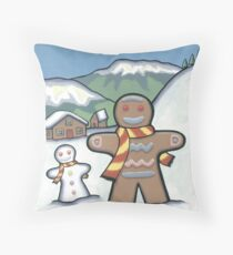Mr Biscuit Goes to the Snow Throw Pillow