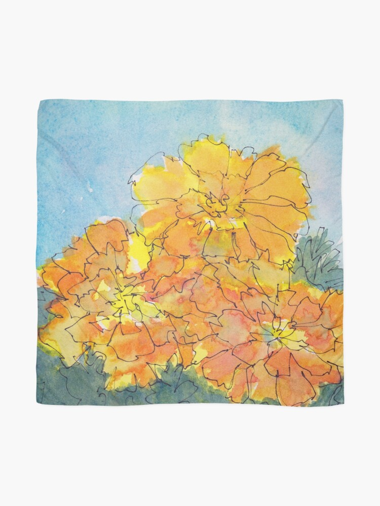 Alternate view of Merry Marigolds! Scarf