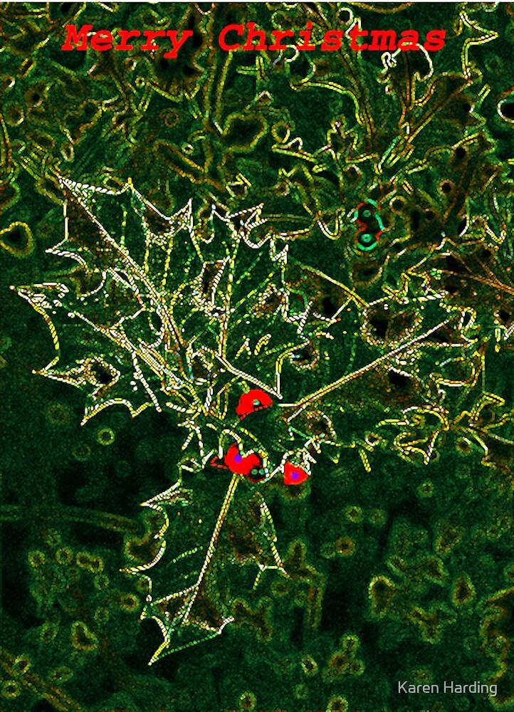 Christmas Holly by Karen Harding