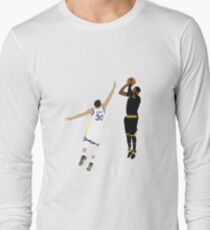 Kyrie Irving Clutch Shot Over Stephen Curry Long Sleeve T-Shirt