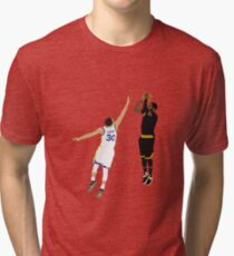 Kyrie Irving Clutch Shot Over Stephen Curry Tri-blend T-Shirt