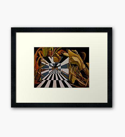 Corn Zoned Framed Print