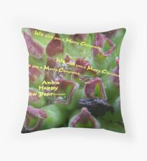Carolers Throw Pillow