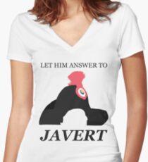 Javert Hat - Les Miserables - Let Him Answer to Javert Women's Fitted V-Neck T-Shirt