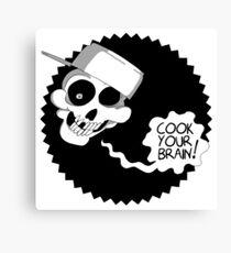 Pot Skull Canvas Print