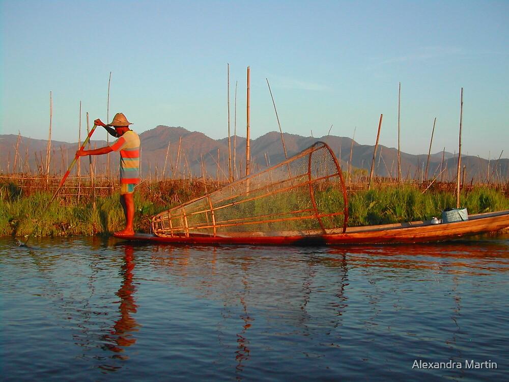 Sunset Fisherman by Alexandra Martin