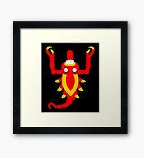 Aztec scorpion V2 Framed Print