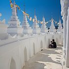 Myanmar. Mingun. The Hsinbyume Pagoda. Photographer in Action. by vadim19