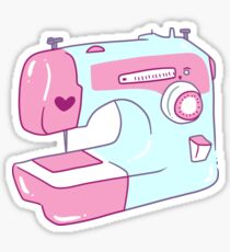 Pretty Sewing Machine Sticker