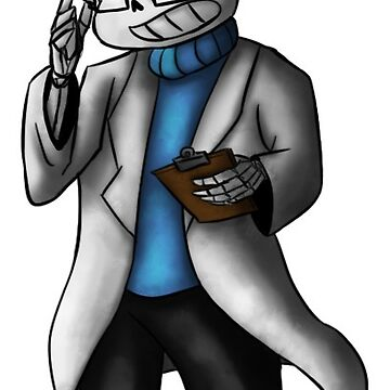 Sticker - Sans the skeleton - Sanstist by nabuco88
