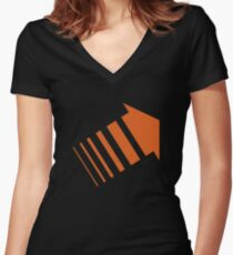 Legion Orange Arrow David Haller Women's Fitted V-Neck T-Shirt