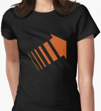 Legion Orange Arrow David Haller Womens Fitted T-Shirt