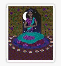 Classical Indian Dancer Sticker