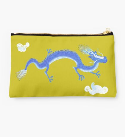 Blue Dragon and Mountain Studio Pouch