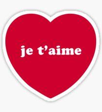 Je T'aime (I Love You) Sticker