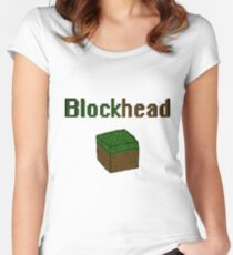Blockhead voxel cube Women's Fitted Scoop T-Shirt