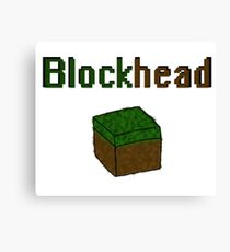 Blockhead voxel cube Canvas Print