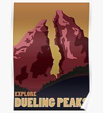 Explore Dueling Peaks Poster