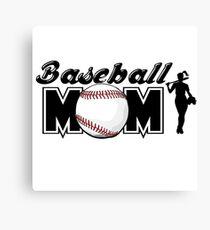 baseball mom Canvas Print