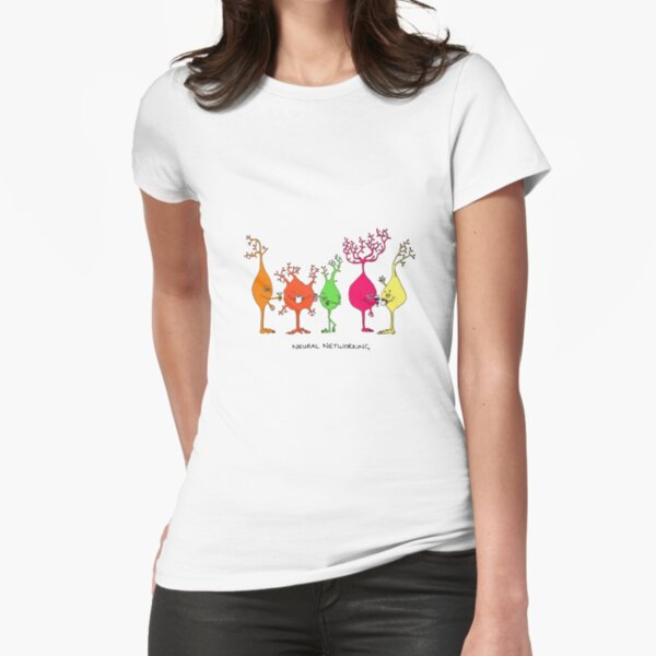 Neural Networking Fitted T-Shirt