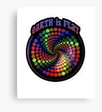 Earth is Flat - Vortex Style Canvas Print