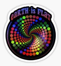 Earth is Flat - Vortex Style Sticker