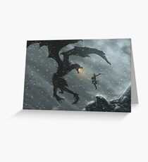 Skyrim - Dragonslayer Greeting Card