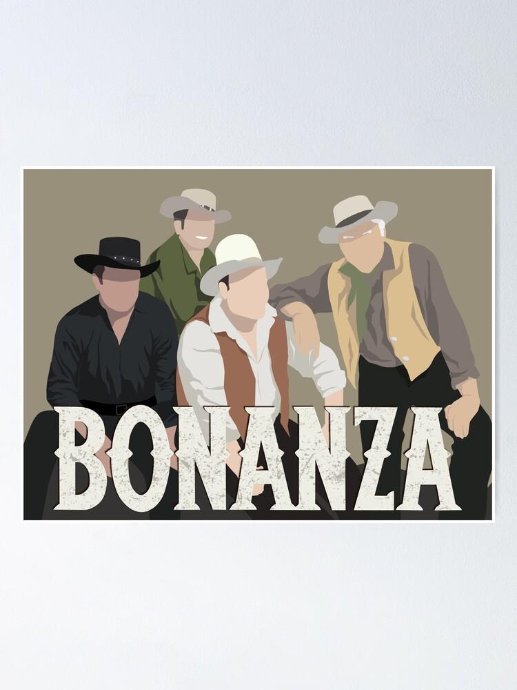 Alternate view of Bonanza Minimalist Portrait Poster