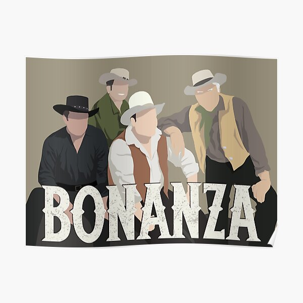 Bonanza Minimalist Portrait Poster
