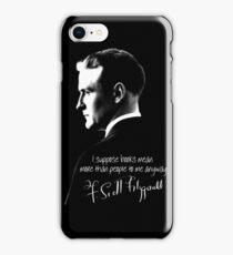 F. Scott Fitzgerald Design iPhone Case/Skin
