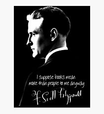 F. Scott Fitzgerald Design Photographic Print