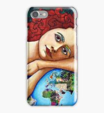 Protect : portrait of a Gaia (Mother Earth Goddess) iPhone Case/Skin