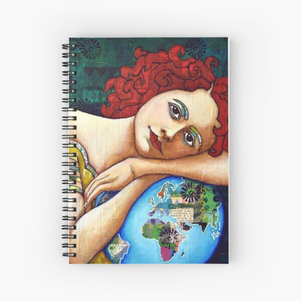 Protect : portrait of a Gaia (Mother Earth Goddess) Spiral Notebook