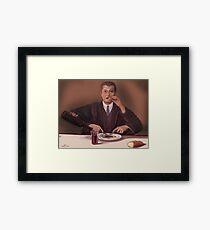 Rene Magritte- self portrait Framed Print