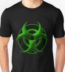 Green Biohazard Symbol 2 T-Shirt