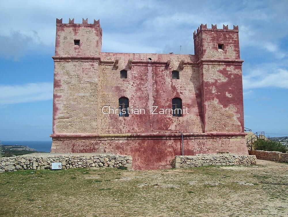 Red Tower at Ghadira, Malta by Christian  Zammit