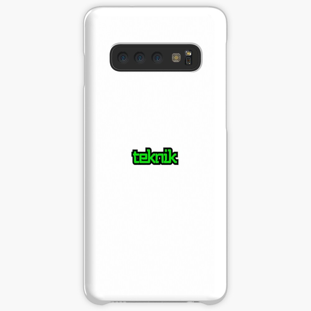 Black and Green Teknik Logo Case & Skin for Samsung Galaxy