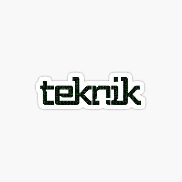 Hacker Teknik Logo Sticker