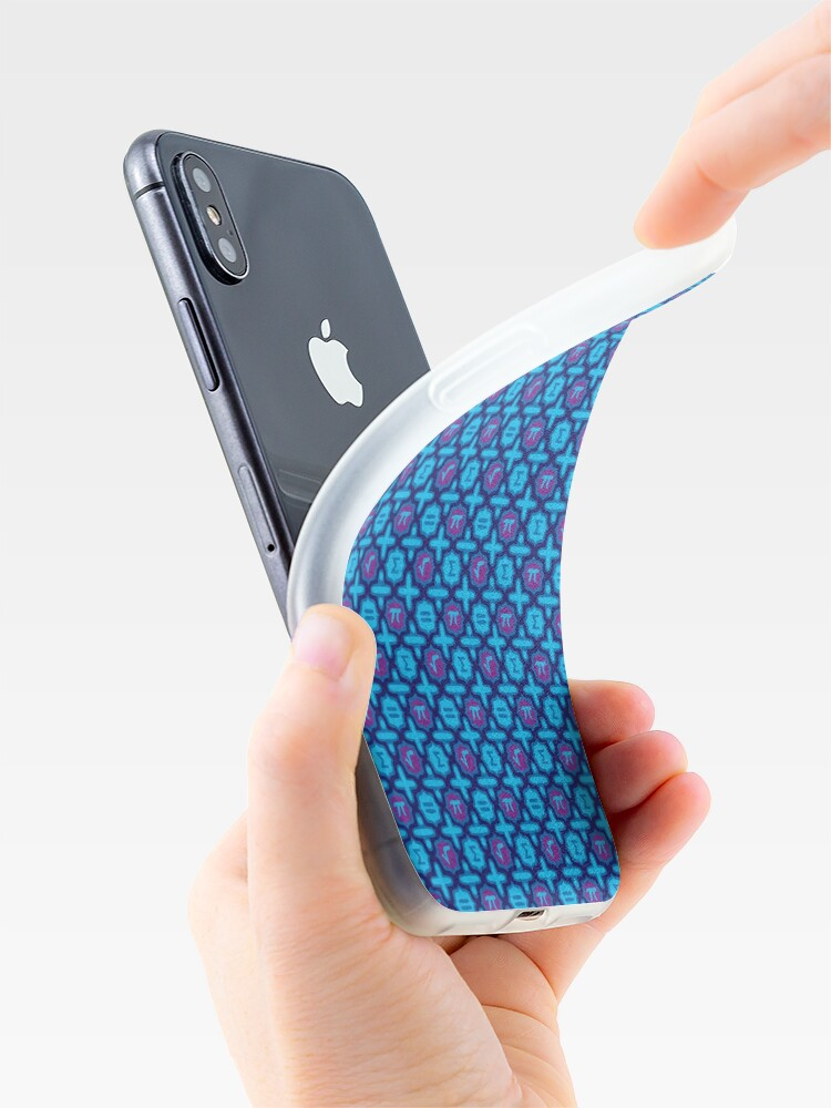 Alternate view of Totally Math in Blue iPhone Case & Cover