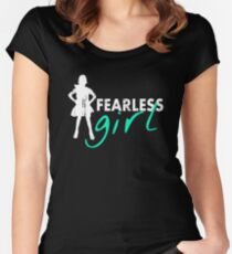Fearless Girl - Vintage Women's Fitted Scoop T-Shirt