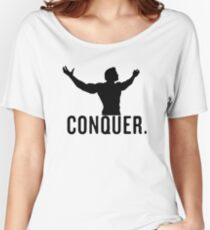 conquer arnie vector design Women's Relaxed Fit T-Shirt